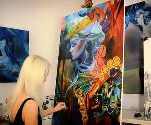 abstract, artist, and painting image