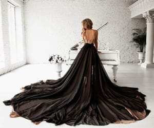 cool, etsy, and black wedding dress image