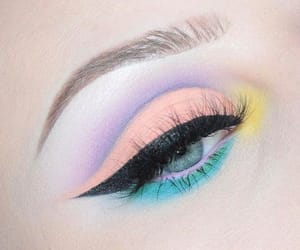 beauty, eyeshadow, and pastel image