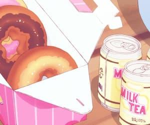 gif, pastel food, and anime food image