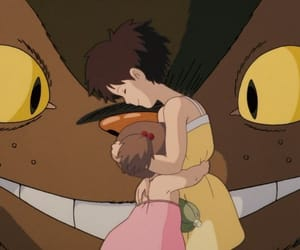 anime, catbus, and family image