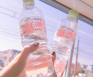 aesthetic, water, and pink image