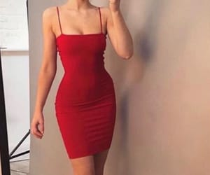clothes, dress, and red image