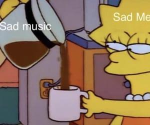 sad, mood, and music image
