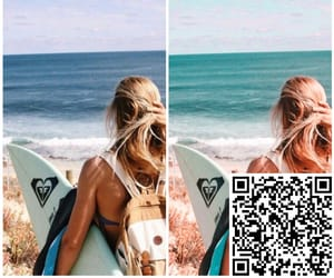 aesthetic, filter, and qr code image
