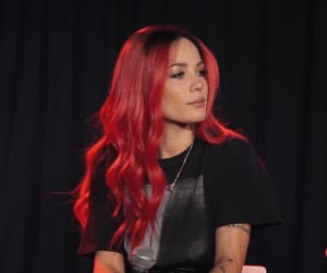 celebrity, red, and halsey image