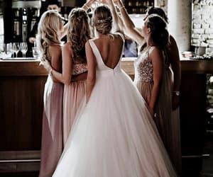 wedding, bride, and girls image