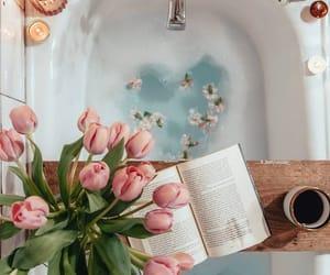 bath, book, and decor image