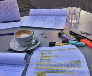 coffee, spring, and study image