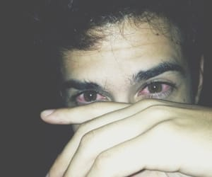 boy, eyes, and weed image