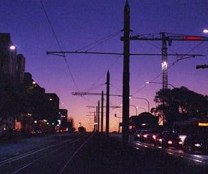 blue, night, and citylights image