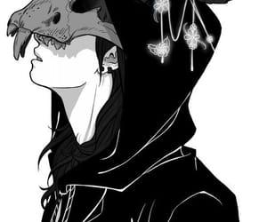 anime, art, and black image