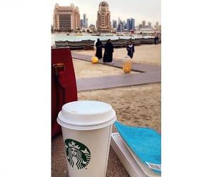 beach, book, and qatar image