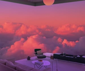 clouds, pink, and aesthetic image