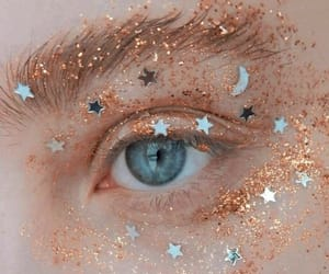 eyes, stars, and glitter image