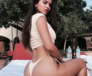 bikini, faded, and girl image