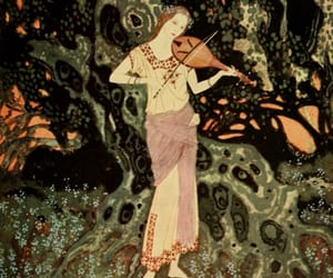 artist, Edmund Dulac, and girl image