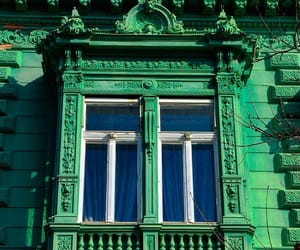 architecture, green, and windows image