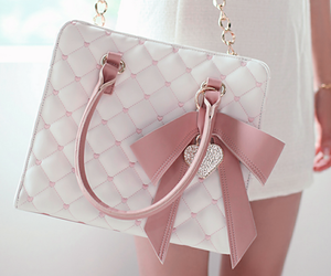 bag, pink, and white image