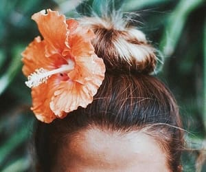flowers, green, and tangerine image