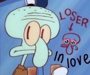 meme, spongebob, and squidward image