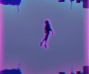 wallpaper, blue, and glitch image
