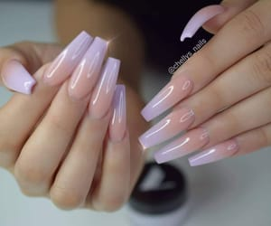 long nails, gel nails, and acrylic nails image