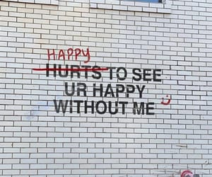 happy, wall, and words image
