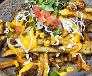 cheese, food, and fries image