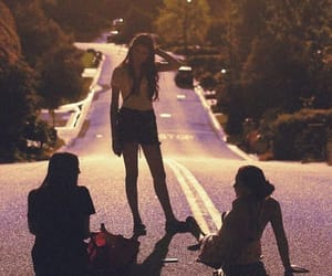 girl, friends, and road image