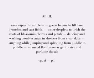 april, background, and lyric image