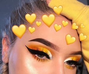 makeup, yellow, and tumblr image