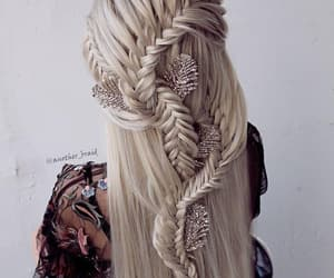 beautiful, blonde, and braided image