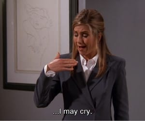 friends, cry, and Jennifer Aniston image