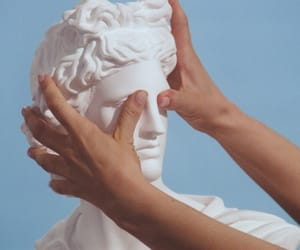 aesthetic, hands, and statue image