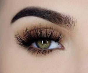 eye, green eye, and makeup image