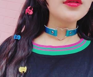 collar, Harajuku, and holographic image