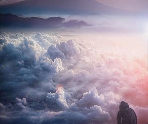 clouds, mountain, and freedom image