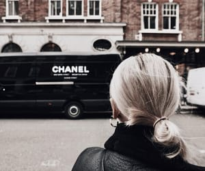 hairstyle, blonde hair, and chanel image