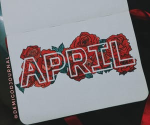 april, journal, and red image