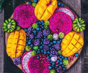fruit, platter, and tropical image