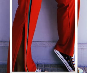 street style, outfit of the day, and red pants image