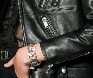 leather, YSL, and saint laurent image