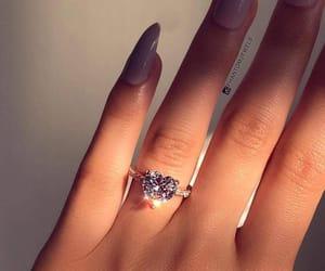 ring, nails, and diamond image