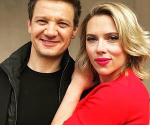 Scarlett Johansson, jeremy renner, and Marvel image
