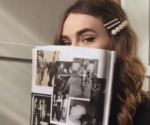 girl and magazine image