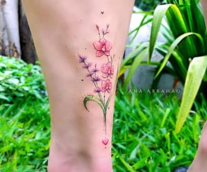 body art, flower, and flowers image