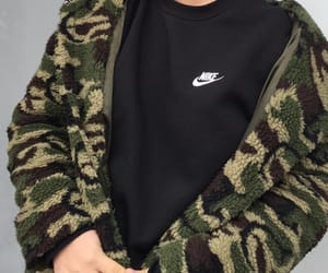 fashion, olive green, and nike image