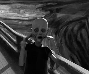 black and white, the sream, and edvard munch image