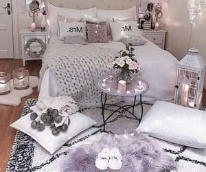 bed, grey, and white image
